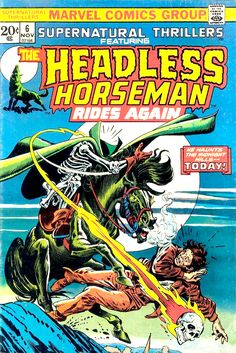 Supernatural Thrillers Featuring The Headless Horseman Rides Again Cover Art by Gil Kane