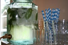 mason jar water with mint