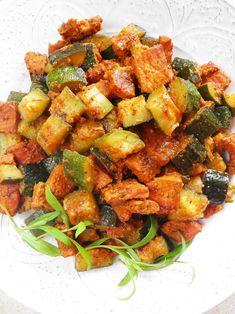 Potrawka z wieprzowiny i cukinii Polish Recipes, Polish Food, Ratatouille, Pork, Ethnic Recipes, Sweet, Kale Stir Fry, Candy, Polish Food Recipes