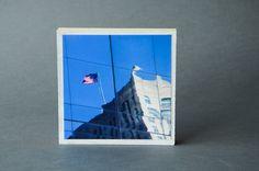 USA Foto auf Holz Quadrat Holzdruck Photo von BildArt auf DaWanda.com