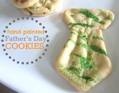 Easy Fathers Day Cookies Your Kids Can Paint