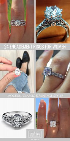 24 Most Popular Engagement Rings For Women ❤ Can't find the right engagement ring? Look at the collection of the most popular engagement rings for women.See more: http://www.weddingforward.com/engagement-rings-for-women/ #wedding #engagement #rings
