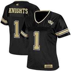 UCF Knights #1 Women's Stadium Replica Football Jersey - Black