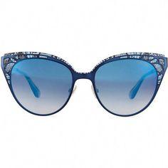 6fb9788f778 Jimmy Choo Estelle Lace-Pattern Cat-Eye Sunglasses ( 425) found on Polyvore