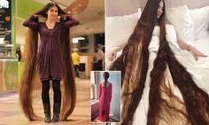 Meet the real life Rapunzel! Woman, 27, has a 90 INCH mane