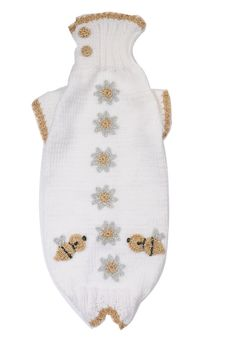MADE TO MEASURE    pet sweater  hand knitted and crochet by fifime, $31.00