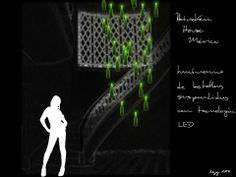 Luminario suspendido con botellas verdes de Heineken iluminadas desde el interior con una lámpara LED / ART Arquitectos + Noriegga Iluminadores Arquitectónicos Mexicanos / Condesa, Distrito Federal, México