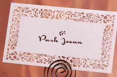FREE Shipping : 200 Customized Business Cards with Lace Pattern Laser Cut Business Cards