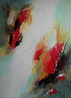 Abstract op doek 50 x 70