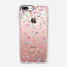 Colorful Confetti Party Explosion Transparent - Classic Grip Case