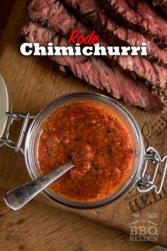 Rode Chimichurri als salsa of marinade – BBQ-helden Spicy Salsa, Marinated Chicken, How To Dry Oregano, Barbecue, Tapas, Healthy Recipes, Healthy Food, Tapenade, Salad