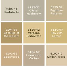 2 Perfect For Cabinets Portobello Oyster Mushroom Paint Color Palettes Beige Colors