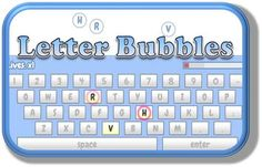 Letter Bubbles - a fun game for typing letters before they reach the edge of the screen