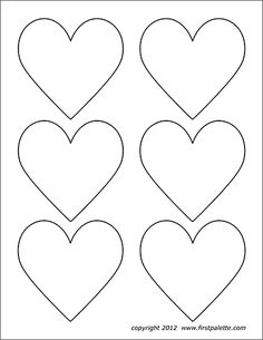 Printable heart shapes - Website has great printable patterns! Heart Shapes Template, Printable Heart Template, Printable Shapes, Shape Templates, Applique Templates, Stencil Templates, Printable Hearts, Free Printable, Owl Templates