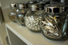 Jars of beads