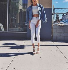 Kuva: We Heart It #denim #fashion #allwhite #cute #allwhiteeverything