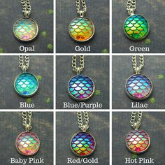 A gorgeous iridescent scales necklace, perfect for mermaid or dragon fans! Girly meets myth and magic these necklaces are eye catching and Mermaid Jewelry, Ocean Jewelry, Mermaid Necklace, Mermaid Ring, Pendant Jewelry, Jewelry Necklaces, Pendant Necklace, Girls Necklaces, Cute Jewelry
