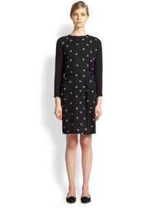 Band of Outsiders - Flower Appliqué Sweater Dress - Saks.com