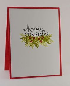 Simple Christmas card - maybe emboss outer part of card to frame the sentiment