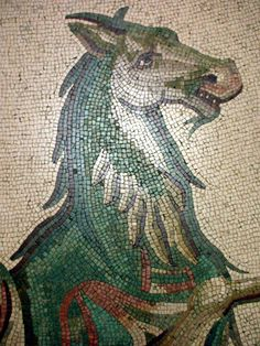 horse mosaic in the Vatican