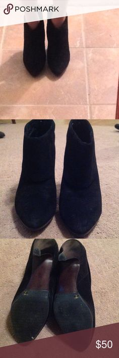 """Black Banana Republic booties Black Banana Republic booties. Suede with 3"""" heels. Size 9 Banana Republic Shoes Ankle Boots & Booties"""