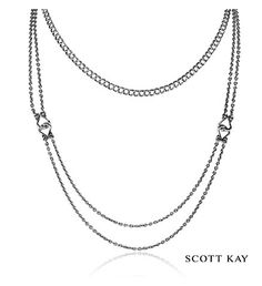 """Scott Kay Ladies Sterling Silver 16"""" Multi Chain Guardian Necklace (Product Style: N3782SP16) #ScottKay #LadiesFashion"""