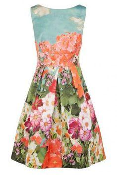 Printed retro socialite style dress