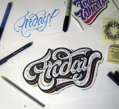 lettering sketches (2014) on Typography Served
