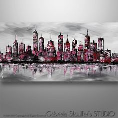 Abstract Cityscape Abstract Painting Cityscape Painting by Catalin