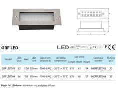 Elmark GRF LED 004 téglalap alakú beépíthető ledes lámpa.   Ki mire szeretné használni, dekorációhoz, funkcionális irányfényekhez is jó!