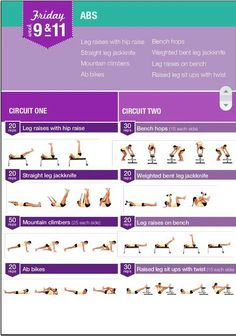 BBG (Bikini Body Guide): 12-week exercise plan (intense 28 min. workouts 3 days a week)