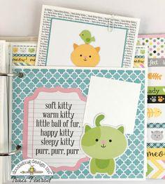 Doodlebug Design Inc Blog: Kitten Smitten Collection: Mini Album by Traci