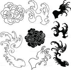 Oriental tattoo waves orientalische t towierungswell. - Oriental tattoo waves orientalische t towierungswellen vagues de tatou - Japanese Cloud Tattoo, Japanese Wave Tattoos, Japanese Waves, Japanese Tattoo Designs, Japanese Sleeve Tattoos, Japanese Art, Japanese Flowers, Tattoo Daruma, Irezumi Tattoos
