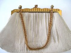 Gorgeous Whiting Davis purse pearlescent by vintageboxofdelights