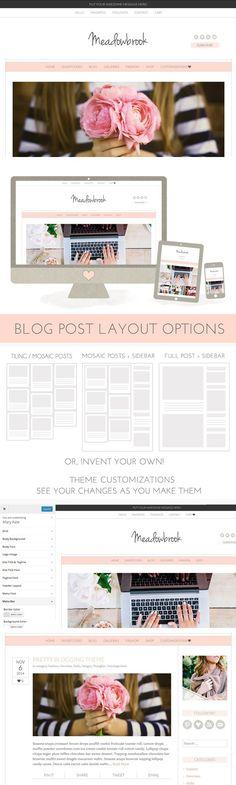 Meadowbrook - Modern Wordpress Theme. WordPress Photography Themes. $70.00