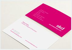 Image from http://www.presidiacreative.com/30-bright-pink-business-cards/