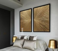 Extra Large Wall Art, Gold Leaf Art ,Original Abstract Painting ,Set of 2 golden paintings,Textured Paintings On Canvas by Julia Kotenko by JuliaKotenkoArt on Etsy Silver Wall Decor, Silver Walls, Gold Painted Walls, Texture Painting On Canvas, Painting Abstract, Textured Painting, Ink Painting, Art Feuille D'or, Grand Art Mural