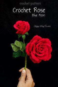 Ravelry: Blue Moon Rose crochet pattern by Happy Patty Crochet
