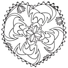 Beautiful Heart Shaped Pattern Coloring Pages Pattern Coloring