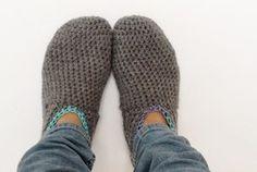 Gratis haakpatroon pantoffels / Free pattern slippers