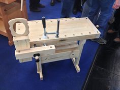 Woodworking Workbenches Sjöbergs' Traditional Workbenches and Portable Smart Vise - - Small Workbench, Wood Top Workbench, Portable Workbench, Workbench Plans, Woodworking Workbench, Woodworking Projects, Workbench Designs, Assembly Table, Carpenter Work