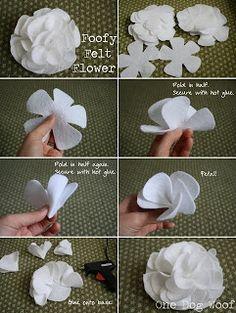 By Manu Alexandrino Artesanatos: Como Fazer Flores em Feltro