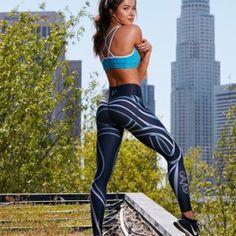 Sport & Unterhaltung Hosen Frauen Flexible Optional Linien Drucken Engen Hosen Workout Gym Training Laufen Yoga Sport Fitness Übung Leggings Dropshipping