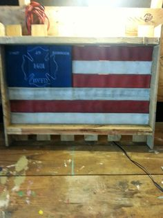 In honor of line of duty death fire hose flag