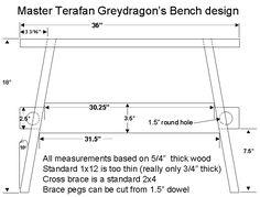 Greydragon medieval bench plans