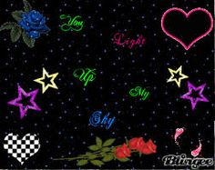 neon hearts blingee - Google Search