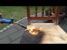 Holz durch Abflammen altern lassen! Ich zeige Euch wie es geht! :) - You can age wood by flames, just singe it.