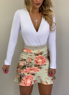 Summer Work Outfits, Mom Outfits, Casual Outfits, Cute Outfits, Denim Fashion, Skirt Fashion, Fashion Outfits, Sexy Dresses, Cute Dresses