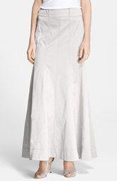 Donna Karan New York Long Stretch Satin Skirt