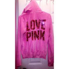 PINK VS zipper hoodie Beautiful pink PINK Victoria's Secret Sweaters